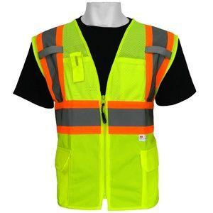 Global Glove FrogWear Safety Vest Reflective NWOT